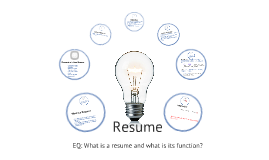 Copy of Creating a Resume