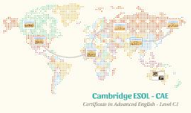 Cambridge ESOL - CAE