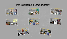 Copy of Mrs. Buchman's 8 Commandments