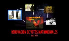 RENOVACIÓN DE VOTOS MATRIMONIALES