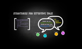 strategies for effective talk