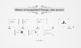 History of Occupational Therapy: 1980-present