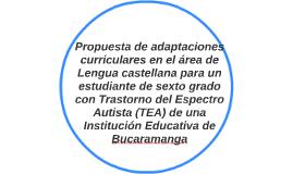 Propuesta de adaptaciones curriculares en el área de Lengua