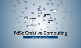 FdSc Creative Computing