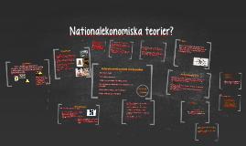 Nationalekonomiska teorier?