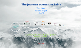 The Journey across the Table