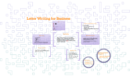 Letter Writing for Business