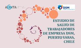 ESTUDIO DE SALUD DE TRABAJADORES DE EMPRESA DSM, PUERTO VARA