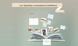 Copy of Laws Regulating Accommodation Establishment