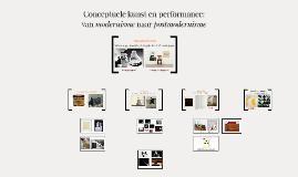 Copy of Conceptuele kunst en performance (Massacultuur)