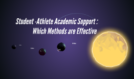 Student -Athlete Academic Support : Effective and Low Mainta