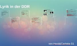 Lyrik in der DDR