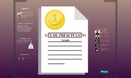 LEY DE PRESUPUESTO