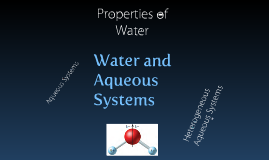 Chapter 15 Water and Aqueous Systems