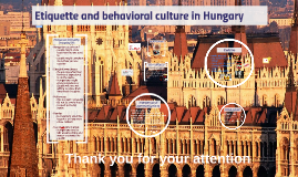 Etiquette and Behavioral Culture in Hungary