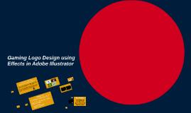 Gaming Logo Design using Effects