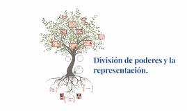 Division de poderes y la representacion.