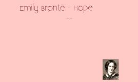 Copy of Emily Brontë - Hope