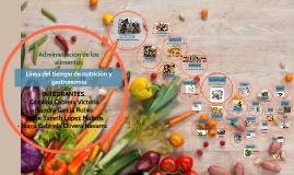 Linea del tiempo de nutrición y gastronomía