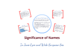 Copy of Significance of Names in Jane Eyre and Wide Sargasso Sea