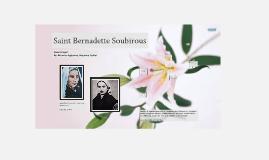 Copy of Saint Bernadette Soubirous