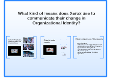 How do Xerox communicate their change in Organizational Iden