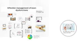 Effective management of team dysfunctions
