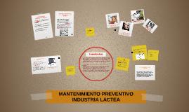 Copy of MANTENIMIENTO PREVENTIVO INDUSTRIA LACTEA