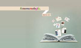 Fenomenología.