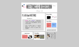 Copy of MEETINGS & DISCUSSION