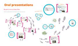 Oral presentations-pre workshop materials