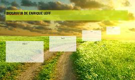 BIOGRAFIA DE ENRIQUE LEFF