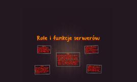 Role i funckje serwerów