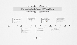 Chronological Order and Timelines