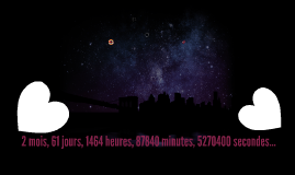 2 mois, 61 jours, 1464 heures, 87840 minutes, 5270400 second