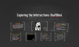 Exploring the Intersections: Deaf Blind