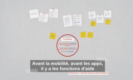 Avant la mobilité, avant les apps, il y a les fonctions d'aide