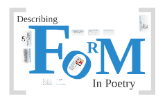 Copy of FORM in Poetry