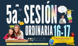 C.T.E. 14-15: Quinta sesión ordinaria