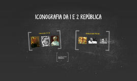 ICONOGRAFIA DA 1 E 2 REPÚBLICA