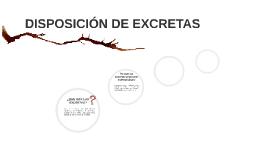 DISPOSICION DE EXCRETAS