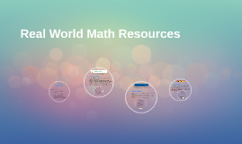 Real World Math Resources