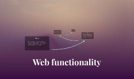 Web functionality