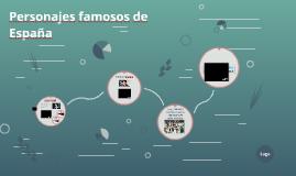 Personajes famosos de España
