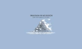 Copy of PROCESOS DE SELECCION