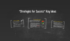 """Strategies for Success"" Key Ideas"