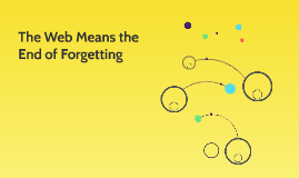 The Web Means the End of Forgetting
