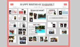 Copy of HAPPY BIRTHDAY HARSHIL!!