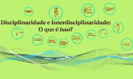 Educação e [inter]disciplinaridade