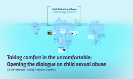 Taking comfort in the uncomfortable: Opening the dialogue on